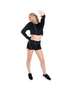 Elemental Activewear Active+ Long Sleeve Training Crop (ballet thumbs)