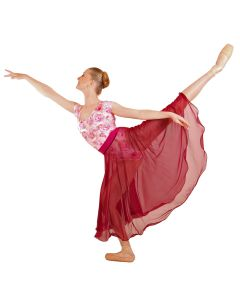 """Rose Mist"" Long Circular Ballet Skirt - REEDLE Ltd Ed"