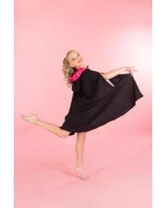 Girls Black Performance Dance Cape