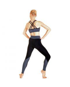 Elemental Activewear Active+ 'Double Cross' EMPOWER (TM) Crop Top